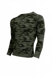 Sesto senso thermo active military style długi rękaw khaki koszulka męska
