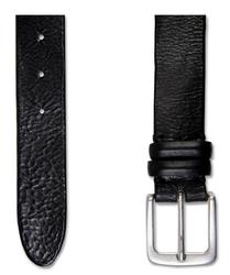 Czarny elegancki pasek profuomo w nieformalnym stylu 85