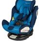 Babysafe labrador niebieski fotelik obrotowy 0-36kg + organizer