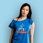 Poprawki i upierdliwość t-shirt damski niebieski m