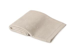 Poofi kocyk bawełniany – popcorn - piaskowy - piaskowy