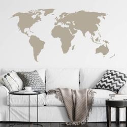Szablon malarski mapa świata 06