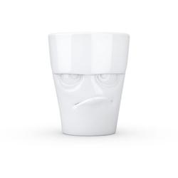 """58products - kubek - """"mrukliwa buźka"""" - biały błyszczący - 350 ml"""