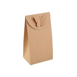 Pudełko papierowe z motylkiem 8x15cm - 10 szt.