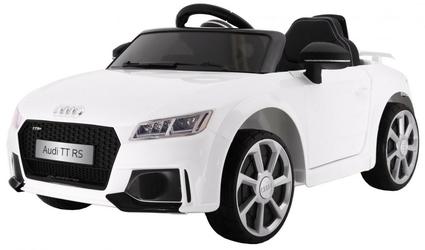 Audi quatro tt rs biały samochód na akumulator + pilot