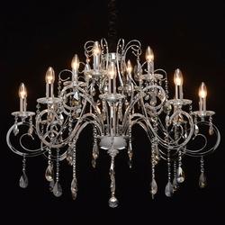 Elegancki, chromowany żyrandol z kryształami chiaro crystal 458011012