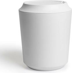 Kosz na śmieci z pokrywką kera biały