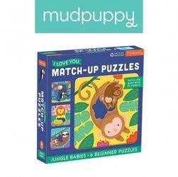 Mudpuppy pierwsze puzzle i love you rodzice i dzieci dżungla 1-3 lata