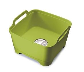 Jj - miska z odpływem washdrain, zielona - zielony || biały || szara