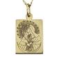 Medalik z żółtego złota wec-z-med-ostro-2