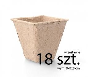 Doniczki torfowe – 8x8x8 cm – 18 szt.