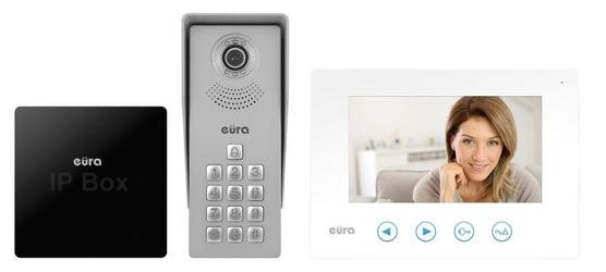 Zestaw wideodomofon eura vda-12a3 tytan biały i bramka ip eura vda-99a3 - szybka dostawa lub możliwość odbioru w 39 miastach