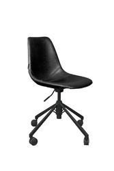 Dutchbone krzesło biurowe franky czarne  1300007