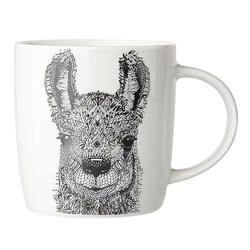 Kubek do kawy i herbaty porcelanowy altom design animal  zwierzęta 300 ml, dekoracja alpaka