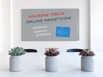 Tablica szklana magnetyczna dowolny kolor ral- 120x90cm