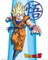 Dragon ball z ss goku - plakat z serialu