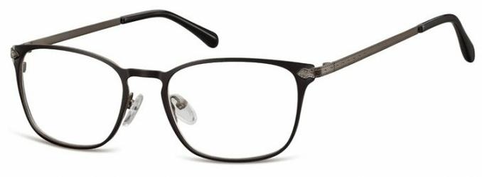 Oprawki okularowe kocie oczy damskie stalowe Sunoptic 991A grafitowo czarne