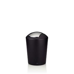 Kela - marta - kosz na śmieci łazienkowy, 1,7 l, czarny - czarny