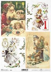 Papier ryżowy ITD A4 R778 Boże Narodzenie