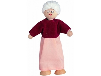 Babcia drewniana laleczka do zabawy w dom