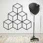 Geometryczna piramida - designerska naklejka , kolor naklejki - biała, wymiary naklejki - 200cm x 200cm