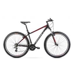 Rower górski romet rambler r9.0 2021, kolor czarny-czerwony, rozmiar 17