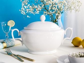 Waza do zupy porcelana mariapaula biała 2,7 l