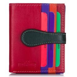 Skórzany portfel slim młodzieżowy patchwork sw-01-r