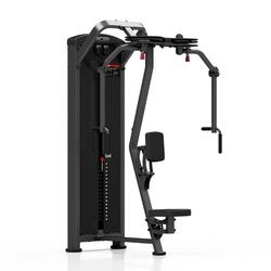 Maszyna 2-w-1 na klatkę i plecy mp-u224 - marbo sport - antracyt metalic  czarny