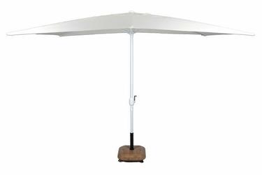 Parasol ogrodowy prostokątny z korbą kremowy 2x3m
