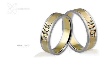 Obrączki ślubne - wzór au-518