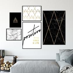 Galeryjka plakatów - golden art , kolor ramki - biały, wymiary galerii - 60cm x 90cm 1 sztuka + 50cm x 70cm 1 sztuka + 40cm x 50cm 1 sztuka + 30