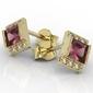 Kolczyki z żółtego złota z rubinami i diamentami lp-46z - żółte  rubin