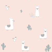 Tapeta lamy i kaktusy nd21128 sweet dreams