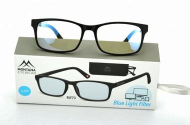 Okulary korekcyjne z antyrefleksem czarne montana blfbox73