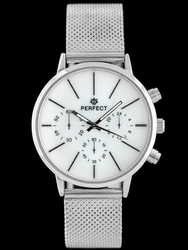 Srebrny zegarek damski bransoleta PERFECT A7030 - silver zp818a