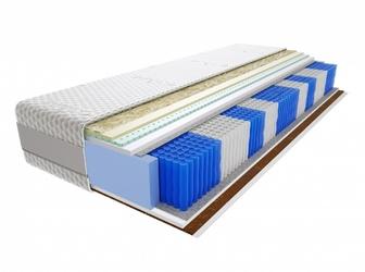 Materac kieszeniowy Aisza Multipocket 110x180 cm Średnio  Twardy Lateks Kokos Visco Memory