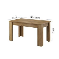 Stół rozkładany heaven 140-180x80 cm dąb riviera