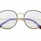 Lenonki okulary zerówki z antyrefleksem złoto-brązowe 2525-4