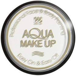 Farba do twarzy biała 30g aqua makeup 20ml