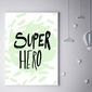 Super bohater miętowy - plakat wymiar do wyboru: 61x91,5 cm
