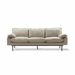 HK Living :: Sofa Retro 3-osobowa beżowa