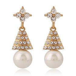 Kolczyki pearl  zircon - pearl  zircon