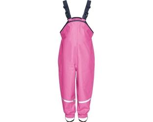 Spodnie przeciwdeszczowe różowe z ociepleniem Playshoes