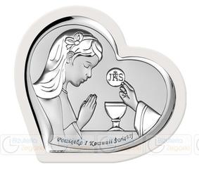 Obrazek BC65171WA 9,2 x 9 cm Pamiątka I Komunii Świętej