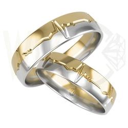 Para obrączek ślubnych bez kamieni łb-55zb-zestaw