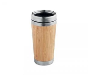 Kubek termiczny z bambusa i stali 420 ml ambeo cup bambusowy
