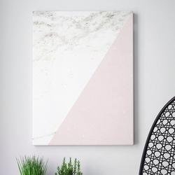 Modny obraz na płótnie - minimalist pink marble , wymiary - 100cm x 150cm