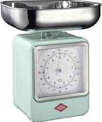 Waga kuchenna z zegarem Retro miętowa