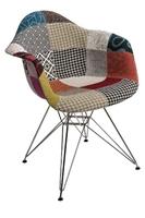 Krzesło p018 patchwork inspirowane dar - niebieski    pomarańczowy    zielony    szary jasny    multikolor    jasny brązowy
